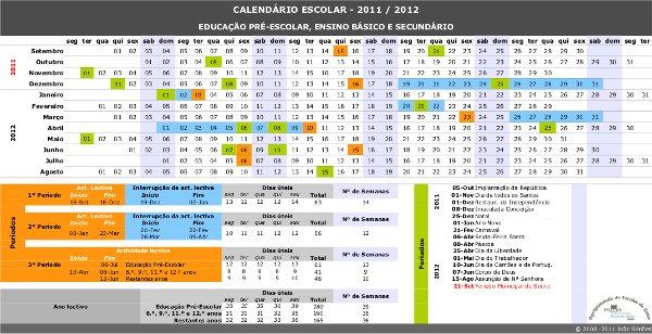Calendário Escolar para o Ano Letivo de 2011/2012 – AGRUPAMENTO DE ...