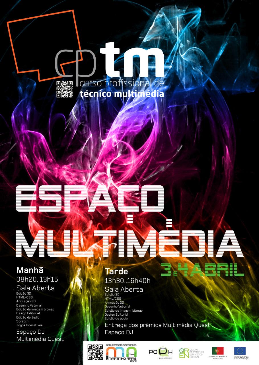 Cartaz de divulgação Espaço Multimédia