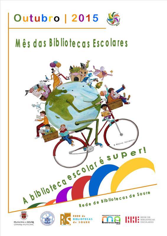 Cartaz mês bibliotecas escolares 2015 2