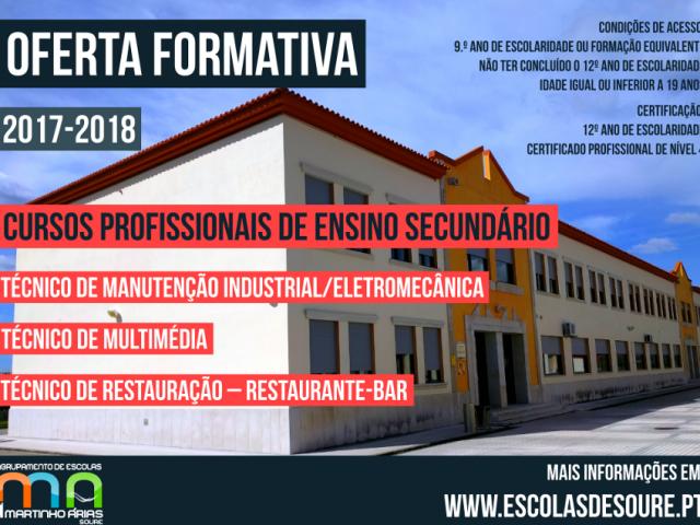 Cursos Profissionais – Ficha de Pré-inscrição 2017-2018