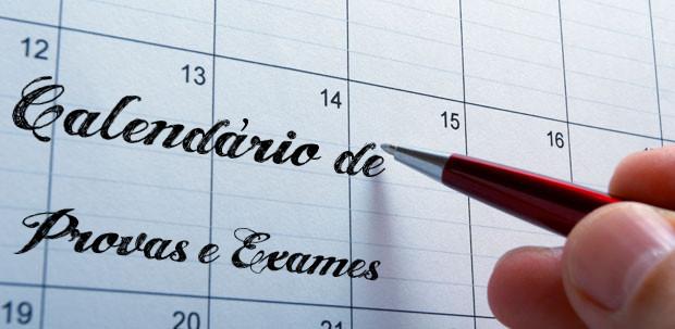 Provas e Exames 2019: Calendário